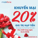 Chương trình Mobifone khuyến mãi ngày 14/3/2018