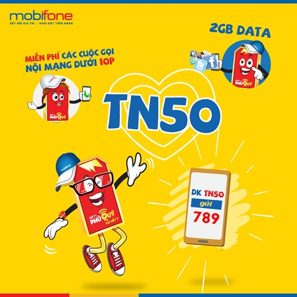 Đăng ký gói TN50 Mobifone