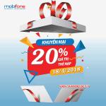 Chương trình Mobifone khuyến mãi 18/4/2018