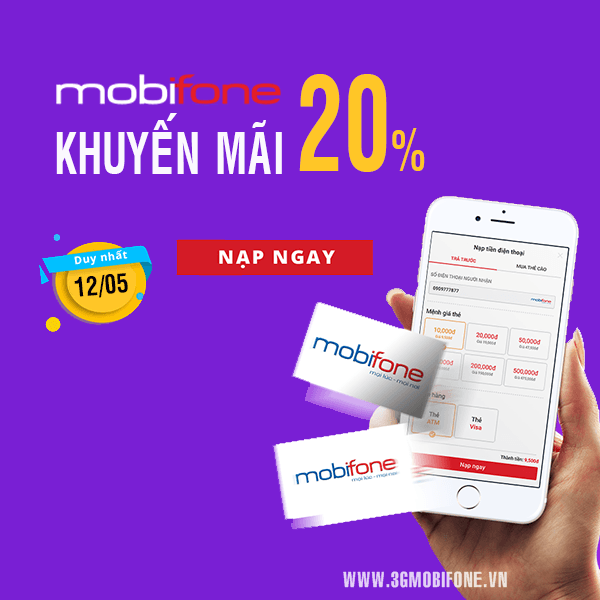 Chương trình Mobifone khuyến mãi ngày 12/5/2018