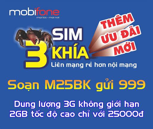 Đăng ký gói cước M25BK Mobifone