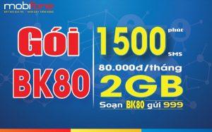 Cách đăng ký gói BK80 Mobifone