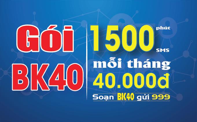 Đăng ký gói BK40 Mobifone