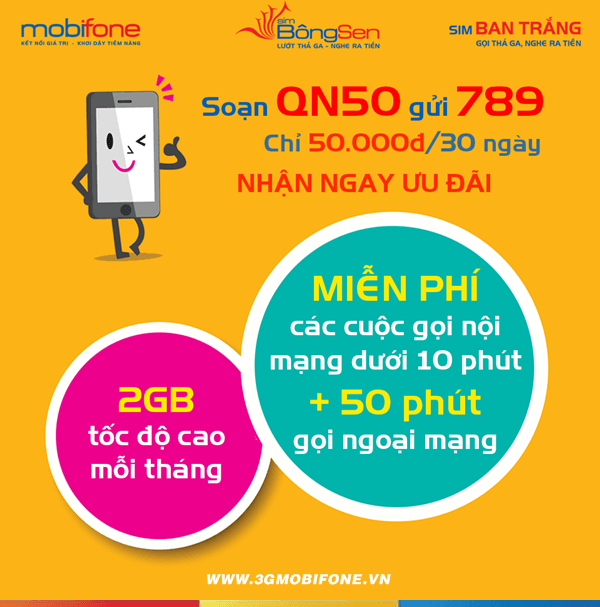 Đăng ký gói QN50 Mobifone