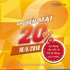 Chương trình Mobifone khuyến mãi 16/5/2018
