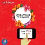 Đăng ký DT20 Mobifone bằng tài khoản khuyến mãi