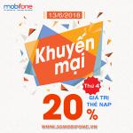Chương trình Mobifone khuyến mãi 13/6/2018