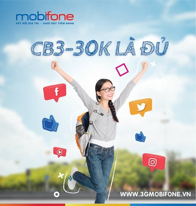 Cách đăng ký gói cước CB3 Mobifone