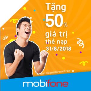 Chương trình Mobifone khuyến mãi 31/8/2018