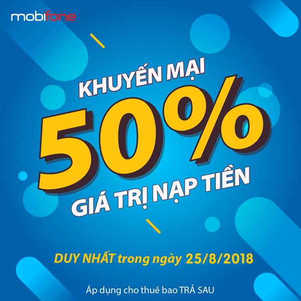 Chương trình Mobifone khuyến mãi trá sau ngày 25/8/2018