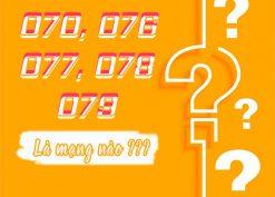 Đầu số 070, 076, 077, 078, 079 là mạng nào?