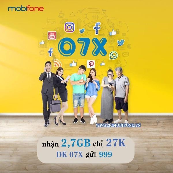 Đăng ký gói 07X Mobifone