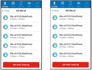 Hướng dẫn cách đổi danh bạ 11 số về 10 số Mobifone nhanh chóng qua ứng dụng My Mobifone
