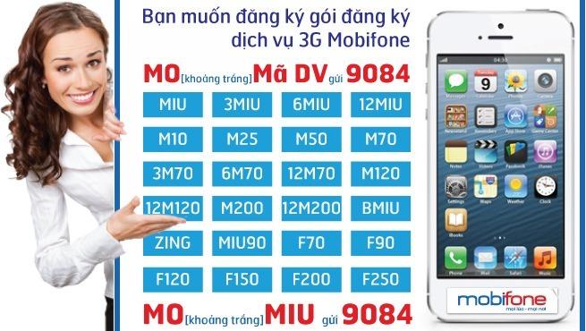 Cách đăng ký 3G Mobifone 1 ngày
