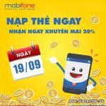 Chương trình Mobifone khuyến mãi 19/9/2018