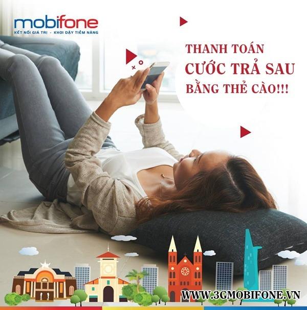 Cách thanh toán cước trả sau Mobifone bằng thẻ cào điện thoại