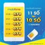 Cập nhật Lịch chuyển Sim 11 số về 10 số Mobifone