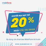 Chương trình Mobifone khuyến mãi 24/10/2018