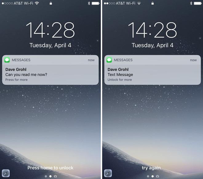 Cách Ẩn thông báo tin nhắn trên màn hình điện thoại