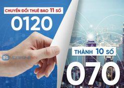 Đầu số 0120 đổi thành đầu số nào