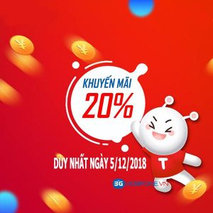 Chương trình Mobifone khuyến mãi ngày 5/12/2018