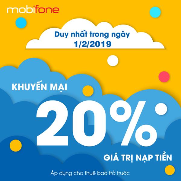 Mobifone khuyến mãi ngày 1/2/2019