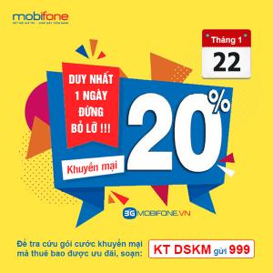 Mobifone khuyến mãi ngày 22/1/2019
