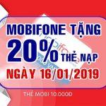 Mobifone khuyến mãi ngày 16/1/209