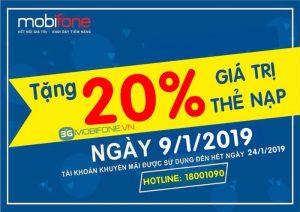 Mobifone khuyến mãi Ngày Vàng 9/1/2019