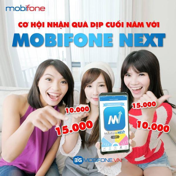 Tải Mobifone Next cộng 15.000đ