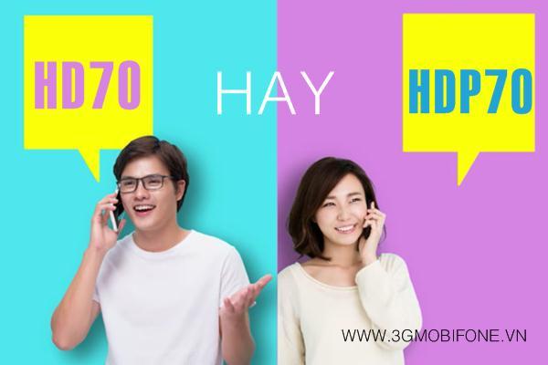 Nên đăng ký gói HD70 Mobifone hay HDP70 Mobifone
