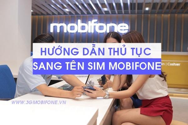 Thủ tục sang tên Sim Mobifone