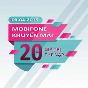 Mobifone khuyến mãi ngày 3/4/2019