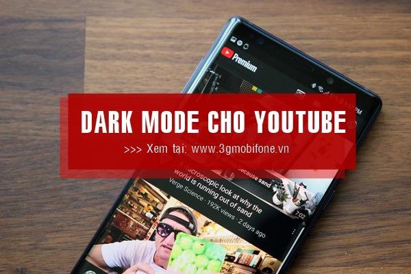 Cách cài đặt nền tối Dark Mode trên Youtube cho điện thoại