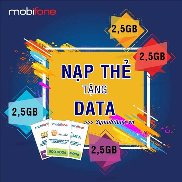 Nạp thẻ cào Mobifone nhận Data miễn phí
