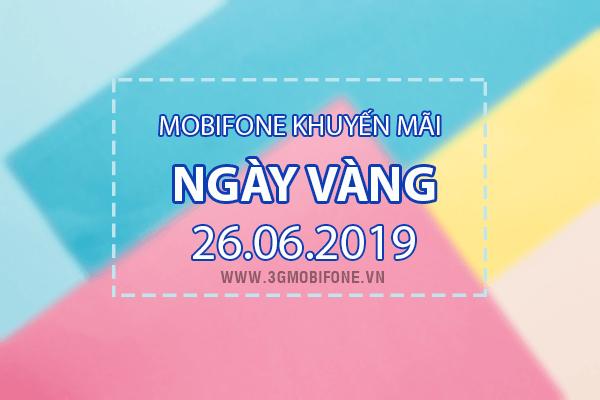 Mobifone khuyến mãi ngày 26/6/2019 tặng 20% thẻ nạp toàn quốc