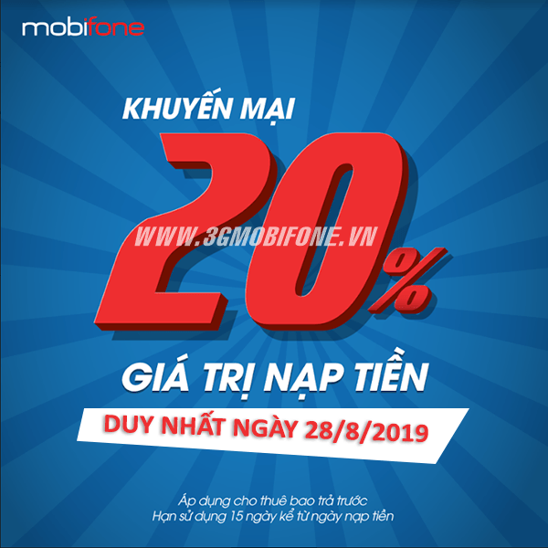 Mobifone khuyến mãi ngày 28/8/2019