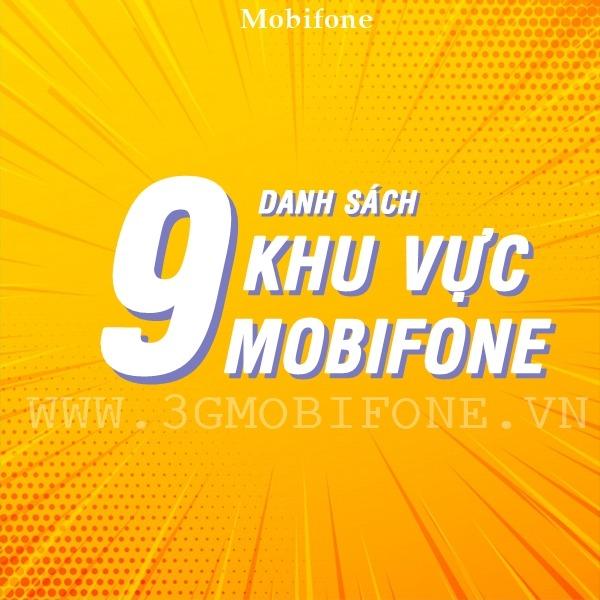 Danh sách chi tiết 9 khu vực Mobifone
