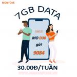 Đăng ký gói D30 Mobifone theo tuần