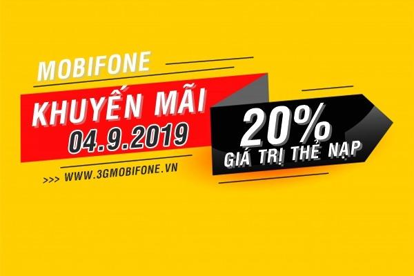 Mobifone khuyến mãi ngày 4/9/2019