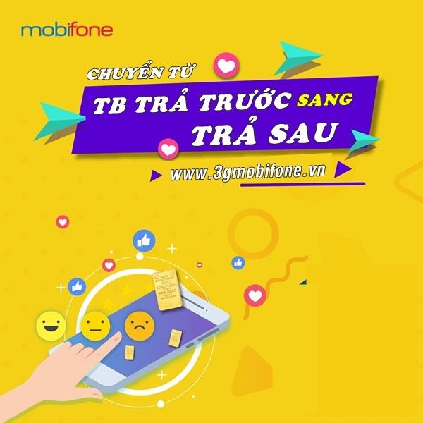 Cách chuyển từ thuê bao trả trước sang trả sau Mobifone