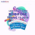 Lịch khuyến mãi Mobifone trả trước tháng 11/2019