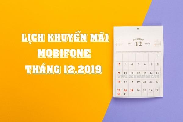 Lịch khuyến mãi Mobifone tháng 12/2019