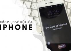 Cách mở khóa iPhone bị vô hiệu hóa