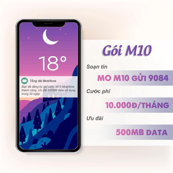 Đăng ký gói cước M10 Mobifone nhận 500MB data chỉ với 10.000đ/tháng