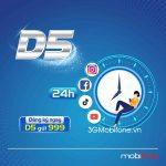 Đăng ký gói D5 Mobifone 1 ngày