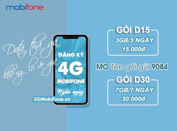 Hướng dẫn cách đăng ký 4G mobifone ngắn ngày 3 ngày, 7 ngày