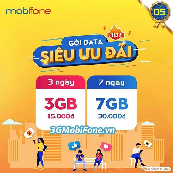 thông tin chi tiết về các gói cước 4G Mobifone 3 ngày, 7 ngày