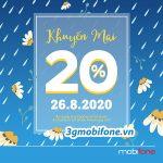 Khuyến mãi Mobifone ngày 26/8/2020 ưu đãi vàng toàn quốc