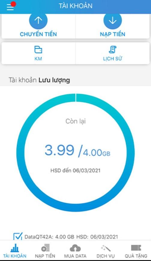 Hướng dẫn cách kiểm tra dung lượng 4G Mobifone
